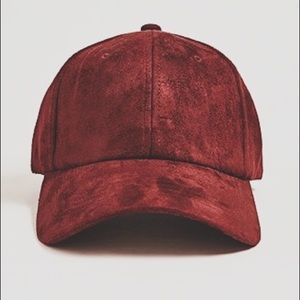 NWT forever 21 burgundy suede baseball hat
